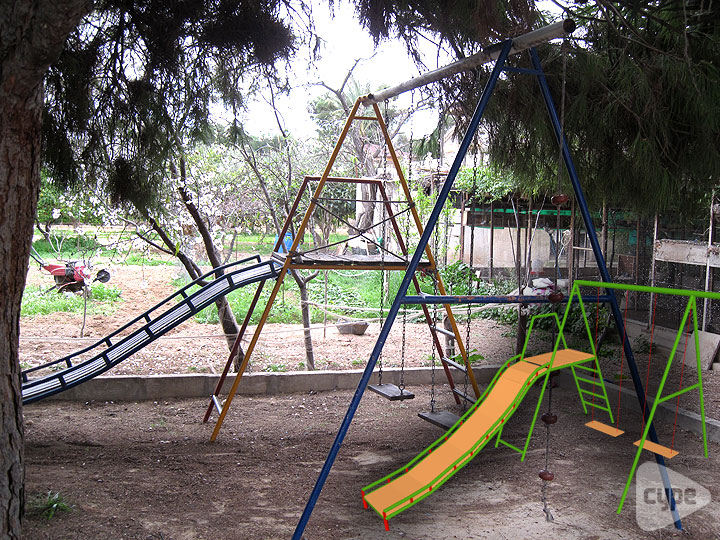 Swing set for infants in Elche, Alicante (Spain)