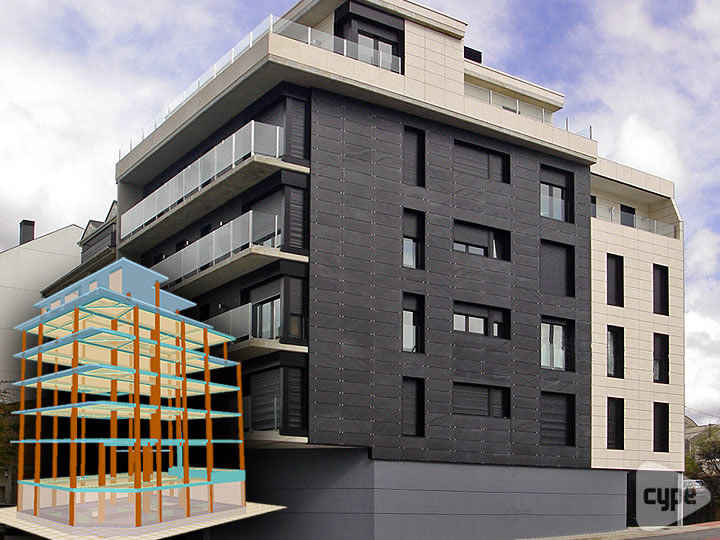 Building with basement, ground floor, 4 floors and penthouse consisting of 9 properties in As Pontes, A Coruña (Spain)