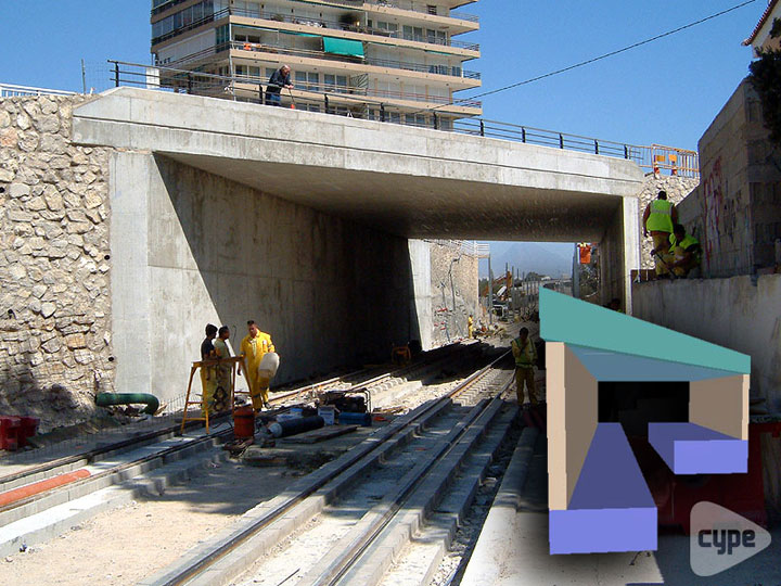 Underpass for TRAM lines in Alicante (Spain)