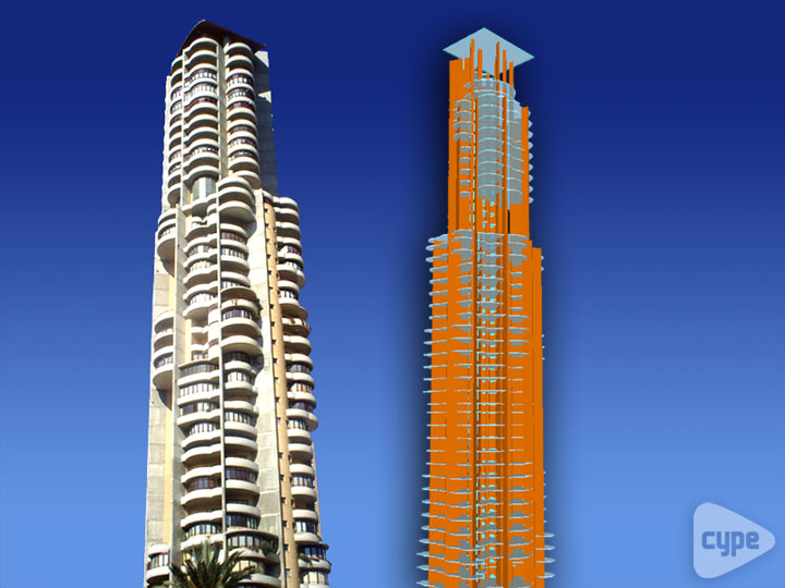 Edificio Negurigane. Height 145 m. 40 floors. Benidorm (Spain)