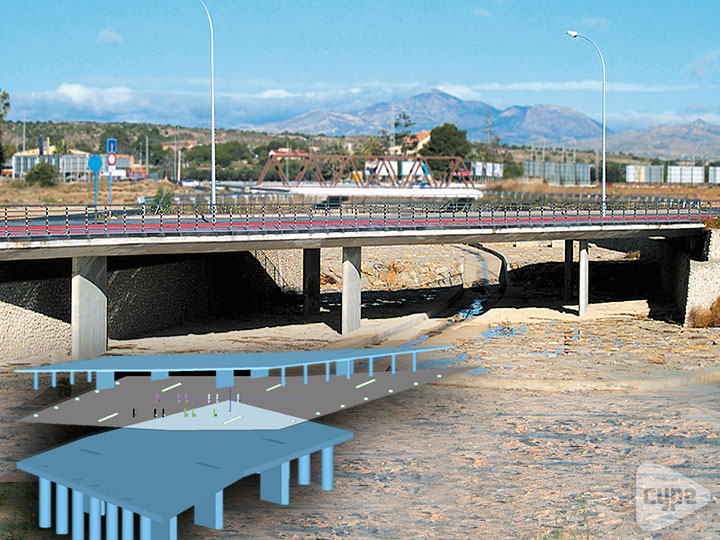 Bridge over the gully of Orgegia and Juncaret in Alicante (Spain)