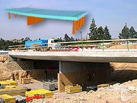 Roundabout bridge over the gully of Orgegia and Juncaret in Alicante (Spain)