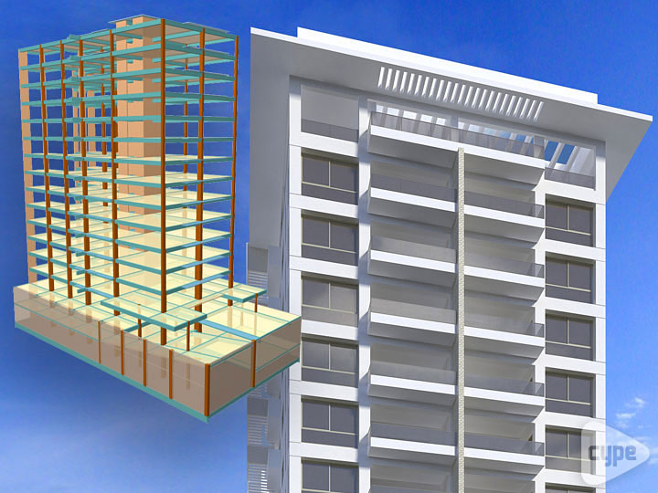 Torre Paseo 14. Residential building of 16 floors. Santo Domingo